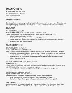 Academic Resume Template for Grad School - College Graduate Resume Example and Writing Tips