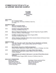 Academic Resume Template Latex - Academic Resume Example solab Rural