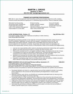 Accountant Resume - Cost Accounting Spreadsheet Fresh Inventory Manager Resume Inventory