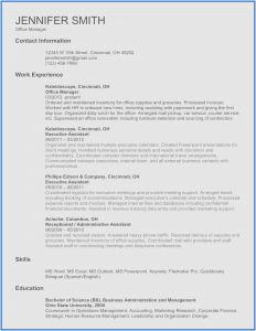 Accounting Resume Template Word - Cv Resume Template Word