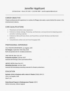 Acting Resume Template for Beginners - A Good Sample theater Resume