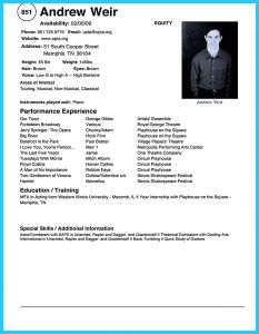 Acting Resume Template Free - 37 Awesome Acting Resume format