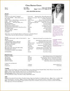 Actress Resume Template - Acting Resume format Fresh Make An Acting Resume Professional