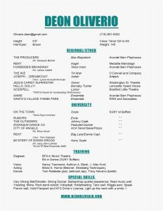 Actress Resume Template - Acting Resume Templates – Actors Resume Template format Actor Resume