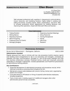 Administrative assistant Resume Template Microsoft Word - Executive assistant Resume Fresh Resume Template Executive assistant