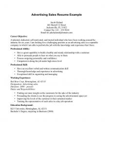 Advertising Resume - Objective for Sales Resume New Sales Advertising Resume Objective