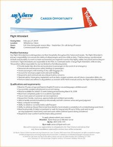Airline Resume - Flight attendant Resume Entry Level New Flight attendant Cover