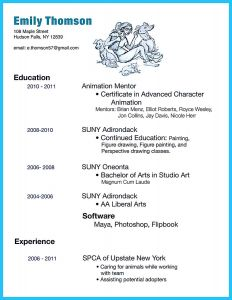 Animator Resume Template - if You Like to Work In Creative Art Design You Can Work as An