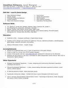 Art Resume Template - Cover Letter Resume Template Lovely Cover Letter for Ui Developer