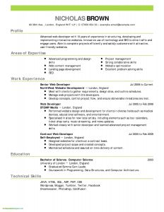 Auto Mechanic Cv format Resume - Mechanic Cv Resume Lovely Free Sample Resumes Lovely Sample Resume