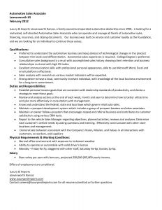 Auto Sales associate Job Description Resume - 19 Retail Store Manager Job Description for Resume
