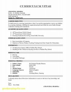 Automobile Cv Resume - Maintenance Technician Resume New Maintenance Technician Resume New