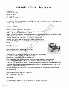 Automotive Technician Resume - Awesome Automotive Technician Resume