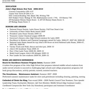 Basic Resume - Resume format Basic Elegant New Sample College Application Resume