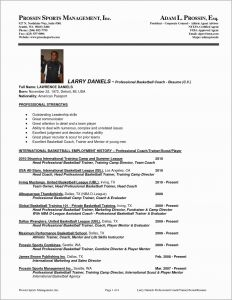 Basketball Resume Template for Player - 20 Basketball Referee Resume