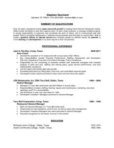 Bauer Resume Template - Sample Resumes Beautiful Resume Examples for General Managers