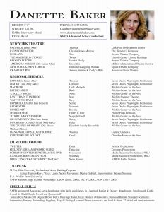 Beginner Acting Resume Template - Acting Resume Sample Free Fax Cover Letter Example are Actor