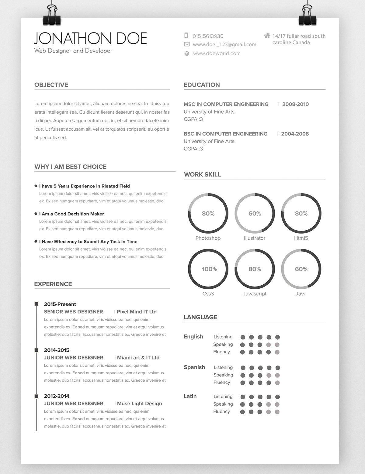 behance resume template Collection-Avada Minimal Resume on Behance 17-m