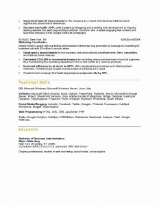 Business Administration Resume - Infant Nanny Resume Classic Nanny Resumes Fresh Nanny Resume Example