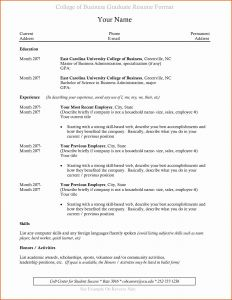 Business Administration Resume - 30 Masters In Business Administration Resume