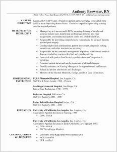 Ca Resume - Rn Resume Template Beautiful Rn Resume Templates New New Nurse