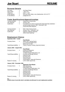 Car Mechanic Apprenticeship Resume - Reference Auto Body Technician Resume Example Vcuregistry