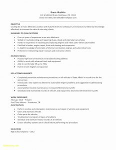 Car Mechanic Cv Sample Resume - Favorite Entry Level Automotive Technician Resume