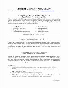Car Mechanic Cv Sample Resume - Automotive Technician Cv Luxury Cover Letter for Maintenance