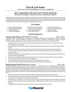 Car Mechanic Resume - Sample Resume for Automotive Mechanic Elegant Auto American New