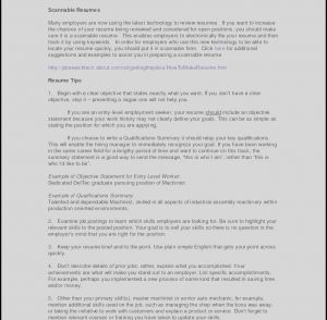 Car Mechanic Training Resume - Resume Template – Sample Resume format Word