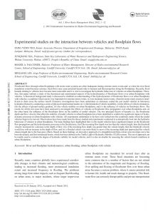 Car Submerged In Water Resume - Pdf Experimental Stu S On the Interaction Between Vehicles and