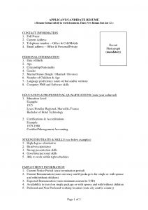 Ceo Resume Template Word - Resume Template Job Sample Wordpad Free Regarding Word format