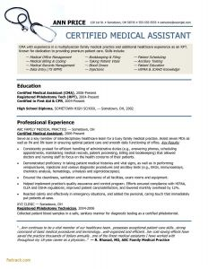 Certified Medical assistant Resume Template - Lpn Resumes Templates Fwtrack Fwtrack