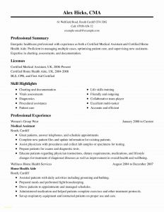 Certified Medical assistant Resume Template - Examples Medical assistant Resumes New Samples Resumes for