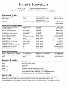 Child Acting Resume Template No Experience - 24 Actors Resume Template