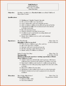 Child Care Resume Template - Early Childhood Education Resume Samples New Teacher Resume Example