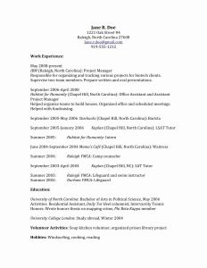 Chronological format Resume Template - Chronological format Resume Lovely Chronological order Resume