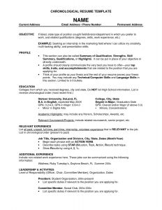 Chronological order Resume Template - Resumes Etc Save Lovely Fresh Free Resume Examples Fresh Business