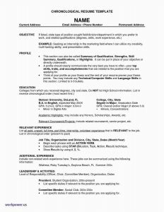 Chronological Resume Template - 20 Best Writing A Resume Objective Simple