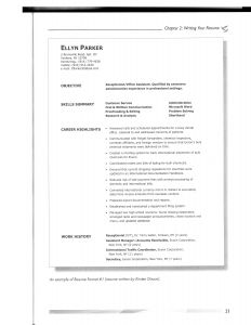 Chronological Resume Template - 37 Concepts Model Resume Template