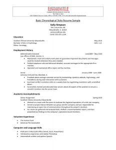 Chronological Resume Template Pdf - Chronological Resume Samples Pdf Google Search