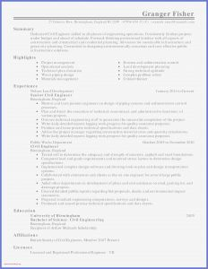 Civil Engineer Resume Template - Municipal Engineer Sample Resume