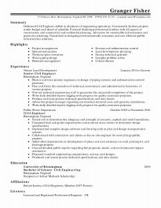 Civil Engineering Career Resume - Hvac Job Description Resume Awesome Resume format for Maintenance