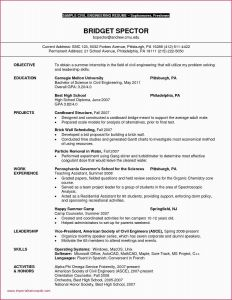Cmu Resume Template - Sample Resume for Engineering Internship India Sample Resume Civil