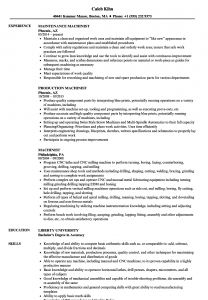 Cnc Machinist Resume Template - Machinist Resume Samples