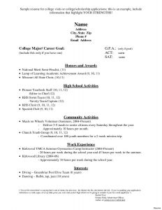 College Application Resume Template Free - 39 Awesome College Application Resume Template