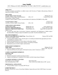 College athletic Resume Template - Personal Trainer Resume Sample Beginner Resume Template