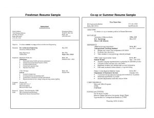 College Freshman Resume Template - 24 College Freshman Resume Template