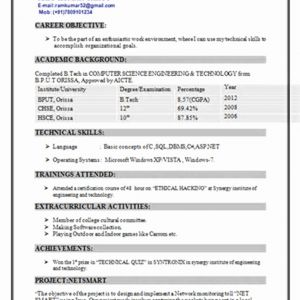 Computer Engineering Career Resume - Puter Science Resume Best Resume for Puter Science Student