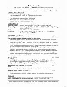 Computer Engineering Resume Template - Puter Engineering Resume Fresh Resume Critique Line Luxury
